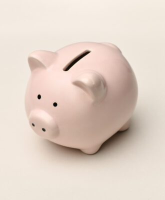 Glum piggy bank