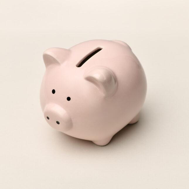 Glum piggy bank