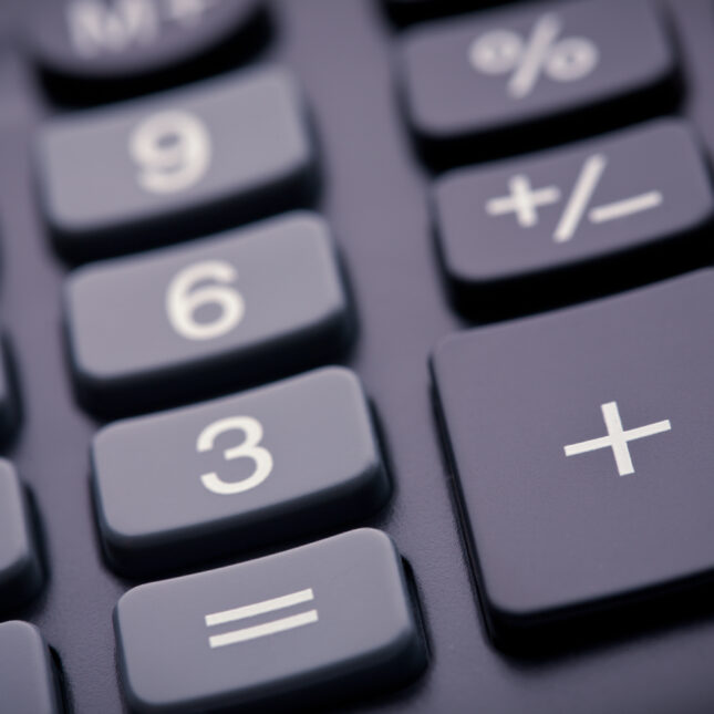 Calculator close up