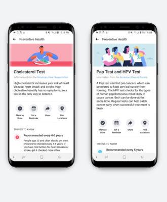 Facebook health app