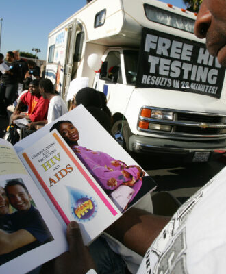 Mobile testing center in Los Angeles