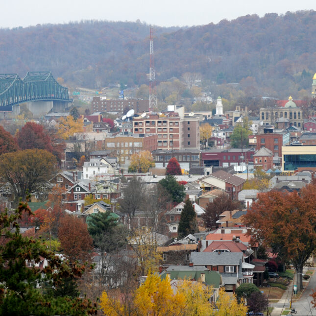 Aerial view Huntington, West Virginia