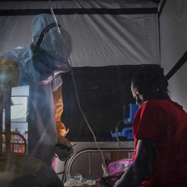 Ebola treatment center in Beni