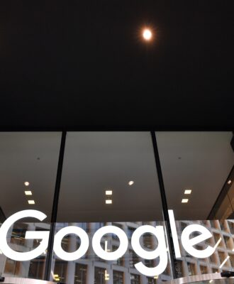Google - white logo on window