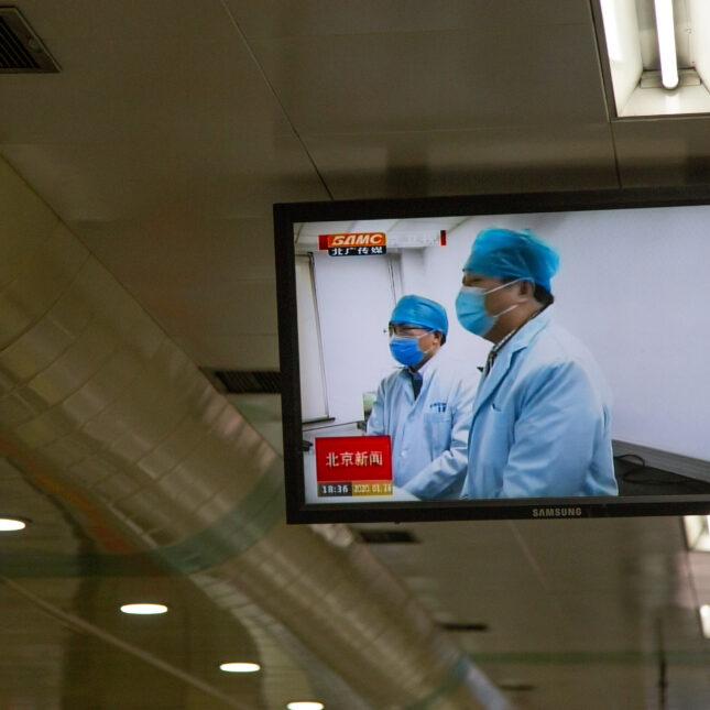 Coronavirus Beijing TV