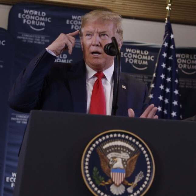 Donald Trump Davos 2020