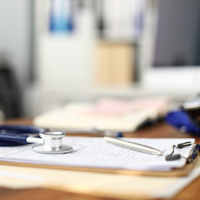 clipboard & stethoscope