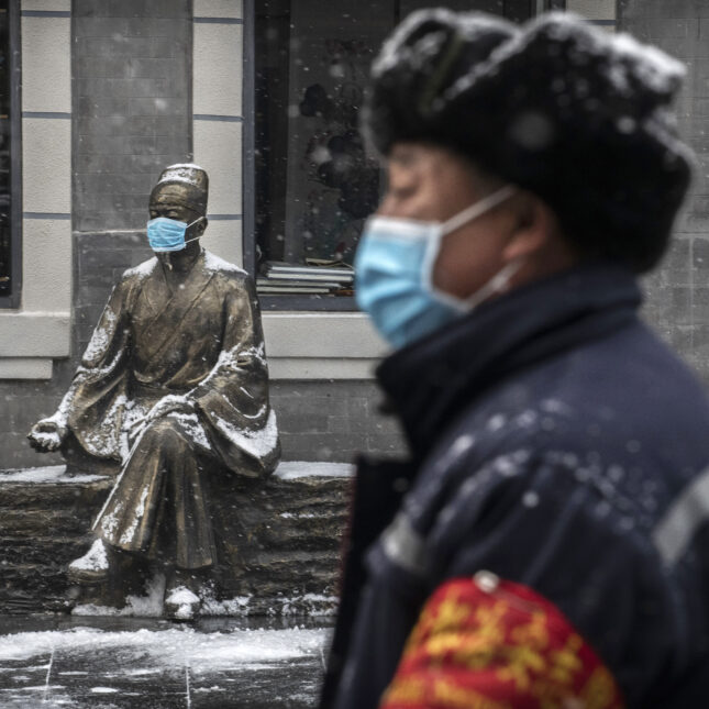 China virus statue