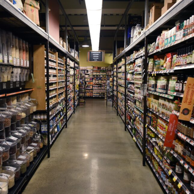 Grocery story aisle