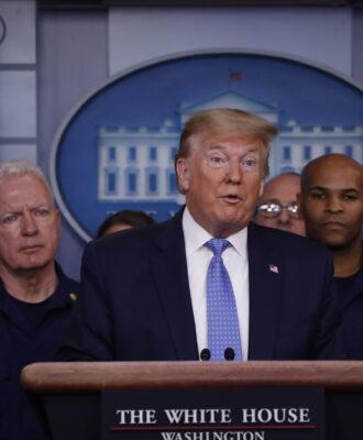 Donald Trump coronavirus briefing