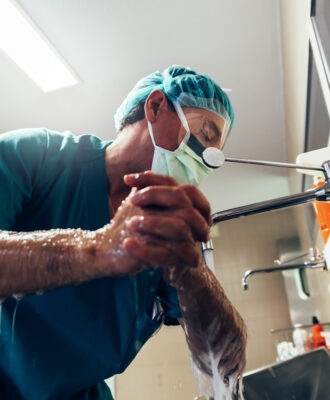 hospital hand washing