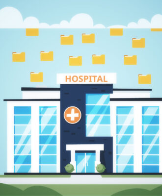 Hospital cloud data illo