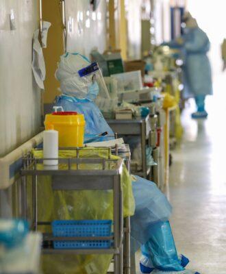 Wuhan hospital hallway