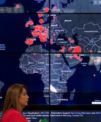 Covid map display - pandemic