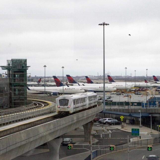 Delta planes at JFK airport