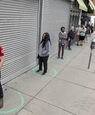 social distancing line