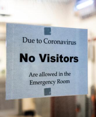 No visitors sign caregivers