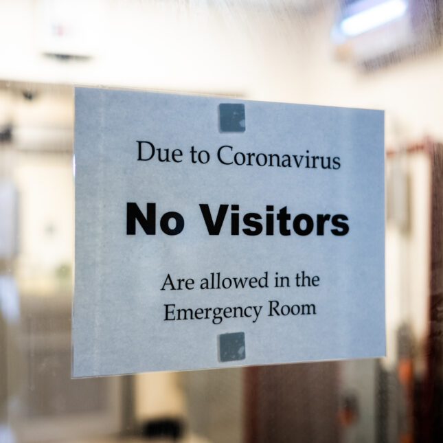 No visitors sign caregivers