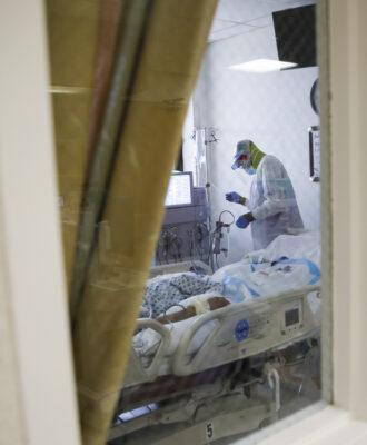 St. Joseph's Hospital ICU patient