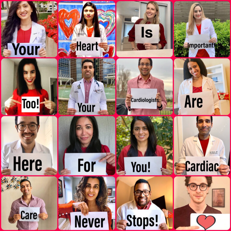 Cardiologists collage