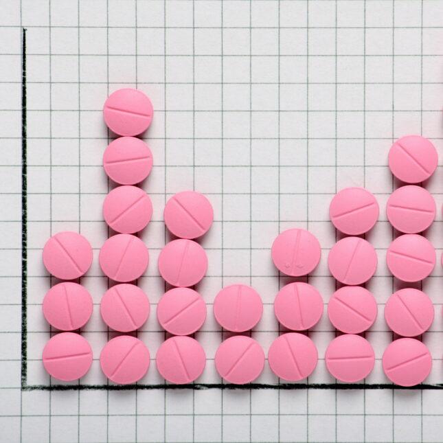 pink pill graph drug development