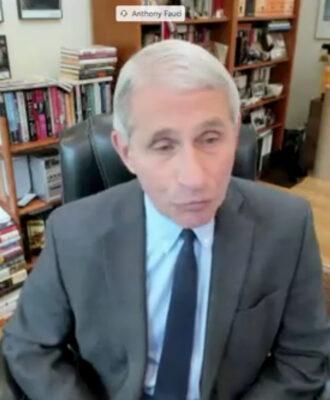 Anthony Fauci web broadcast