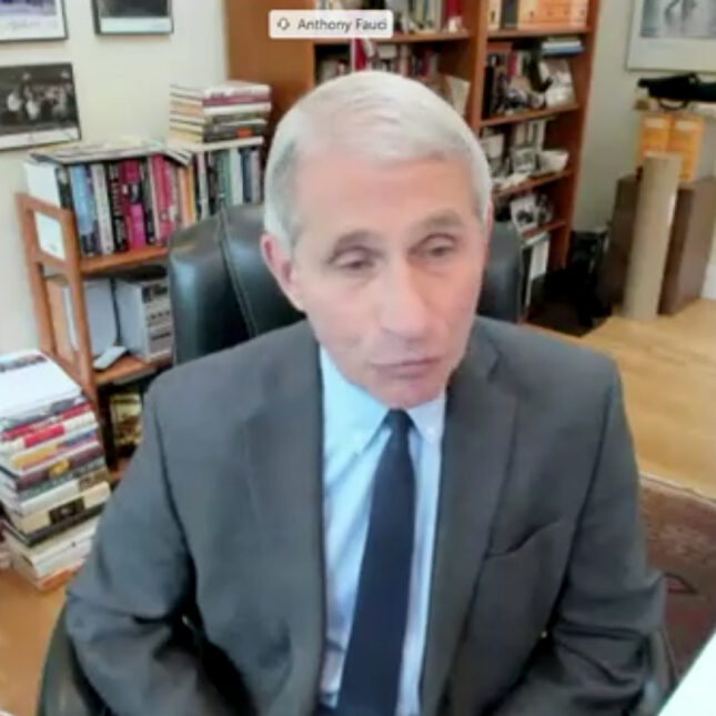 Anthony Fauci web broadcast