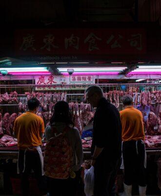 Wan Chai wet market meat