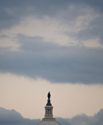 Capitol and clouds