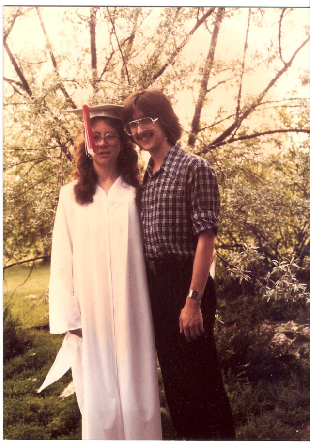 Robin and Larry HS graduation 1981