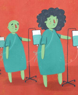 sick patients w/ iv bags challenge trials