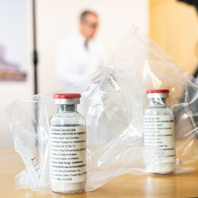 Remdesivir vials in bags