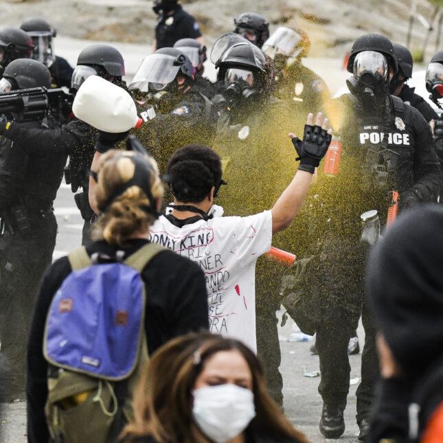 Denver protest/pepper spray Black lives