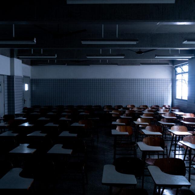Empty classroom medical school