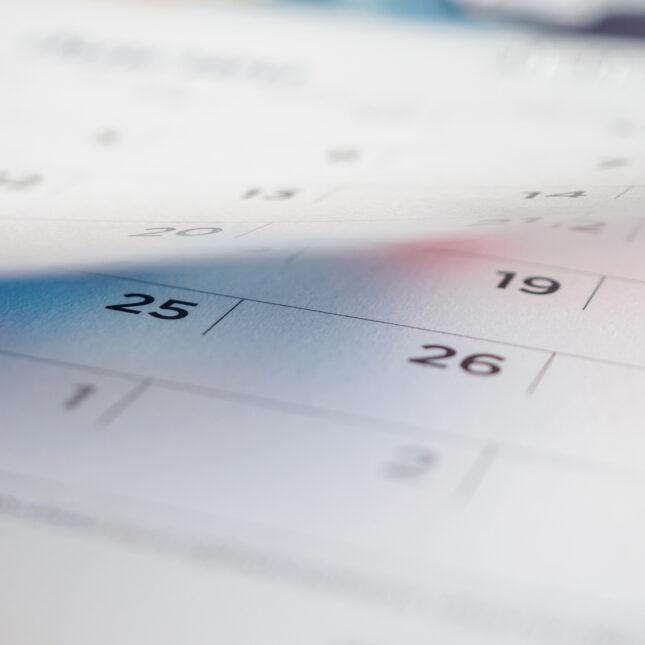 calendar page flipping Covid-19 symptoms