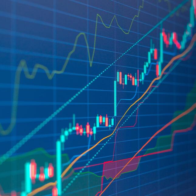 Closeup financial chart