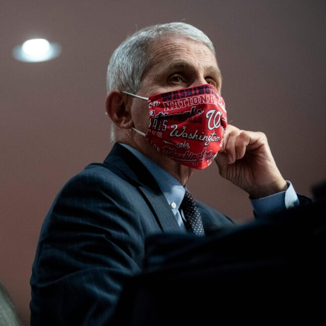 Fauci with mask