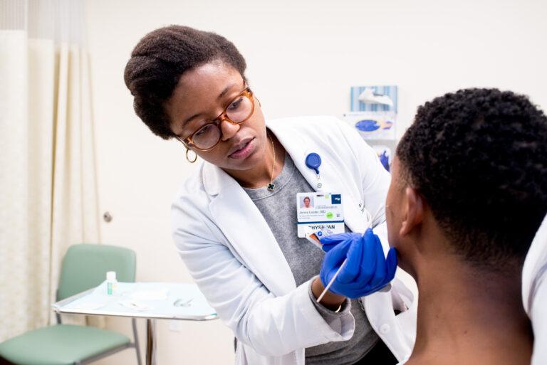 Dr. Jenna Lester w/ patient