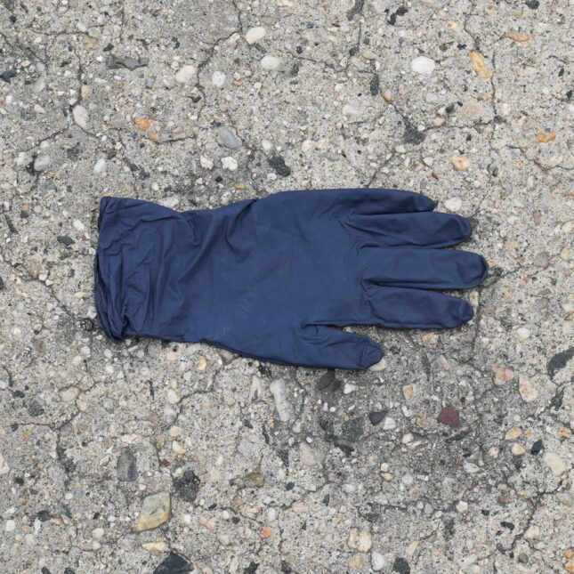 Discarded glove residents