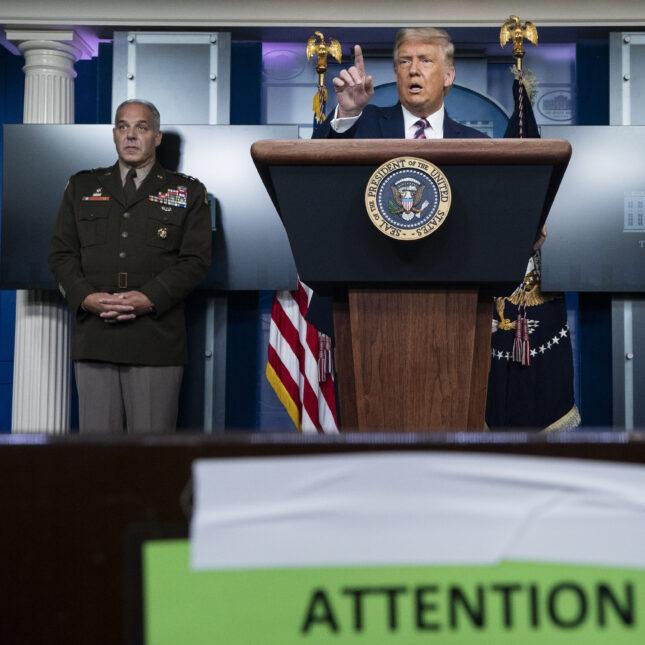 Perna, Slaoui, Trump