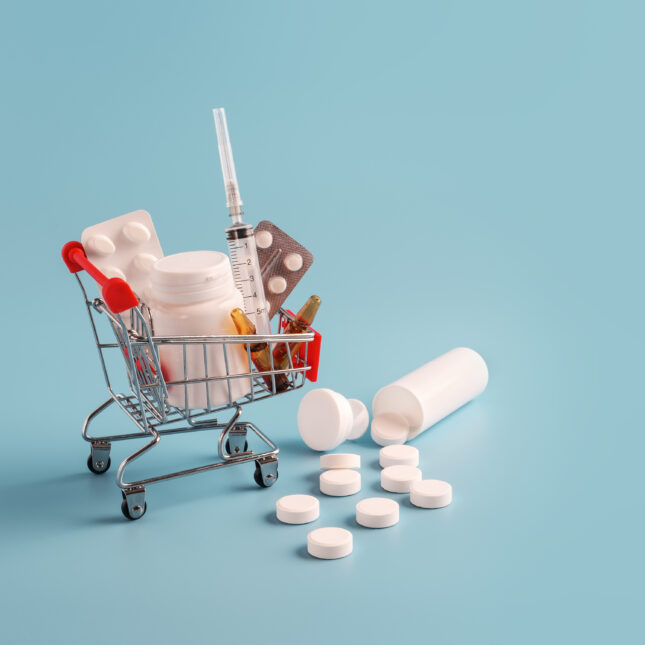 med pills shopping cart rebates
