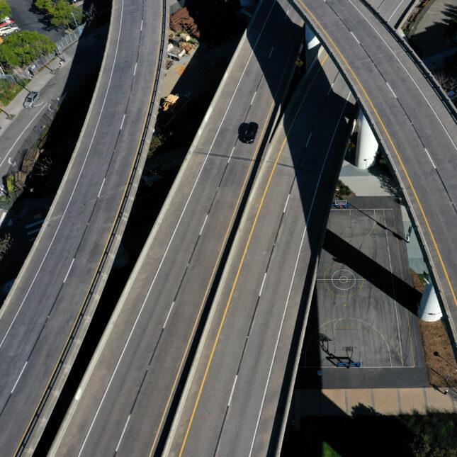 Freeway aerial interstate highway system