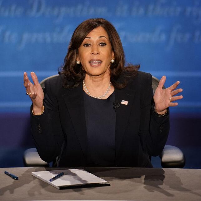 Kamala on debate stage
