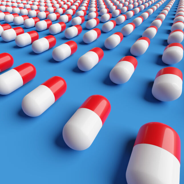 red white and blue pills American-made medicines