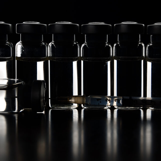 Vials in the dark