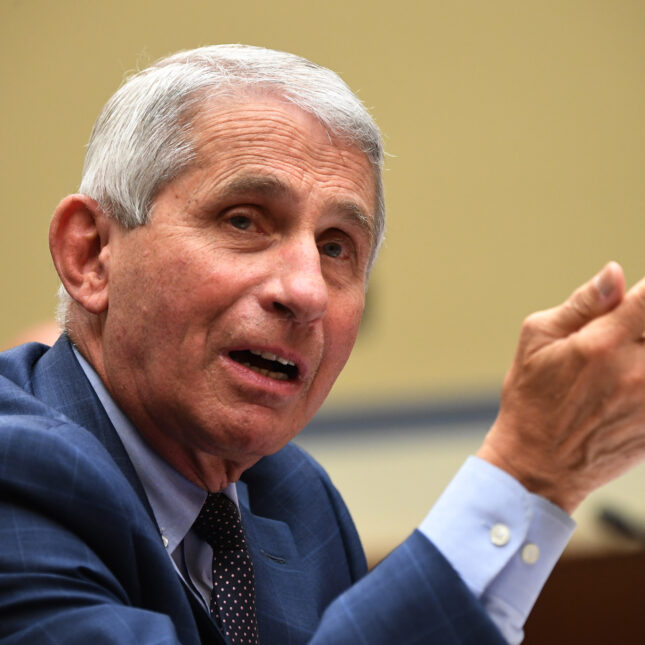 A. Fauci pointing