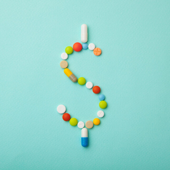 pill dollar sign list price