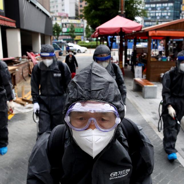 South Korea health officials