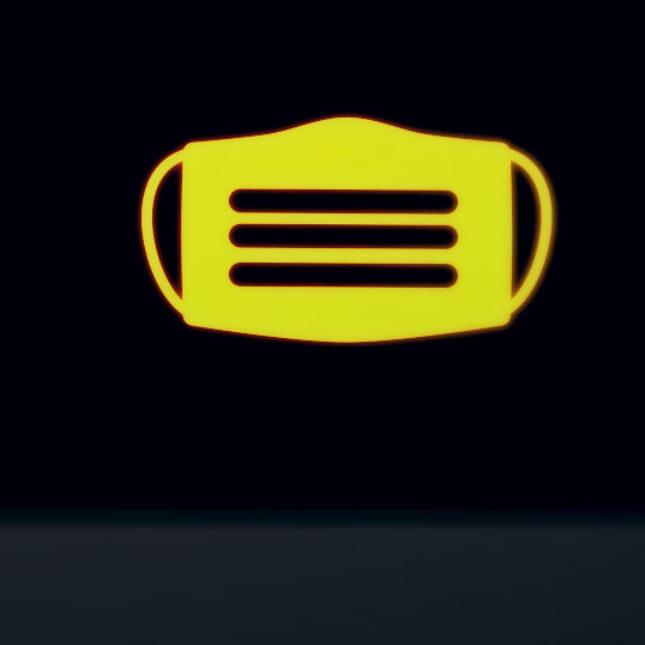 Seat belt and mask mandate warning