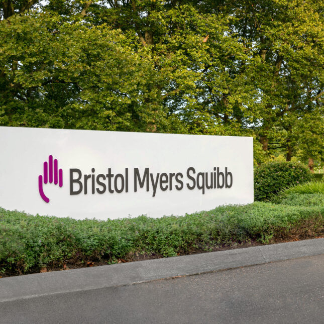 Bristol Myers Squibb sign